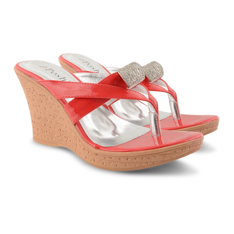 Sandals Flip Wedge Toe Flop Diamante Thong New Ladies Heel High tdxrsCQh
