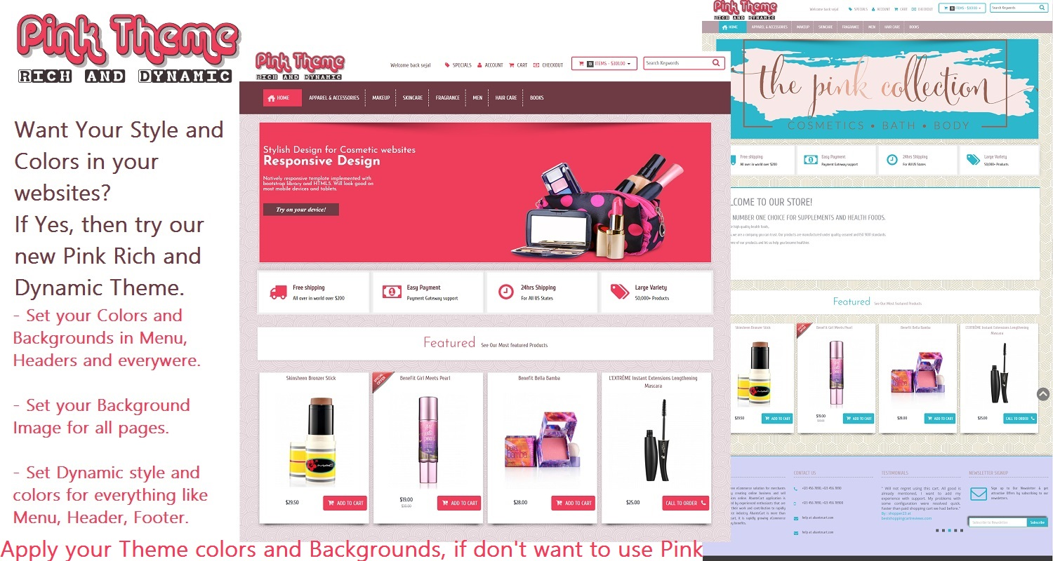 Pink Rich Dynamic Theme Template