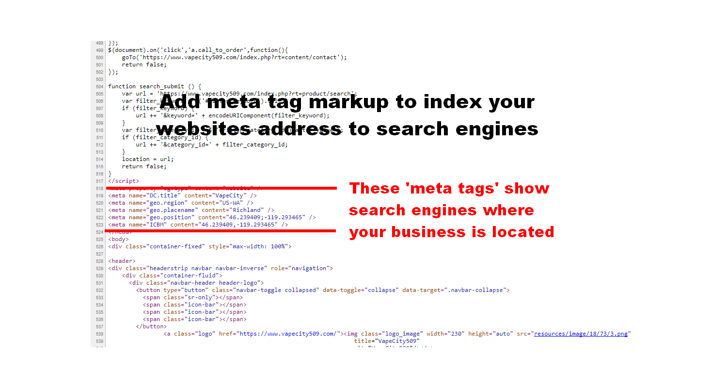 Location Meta Tags