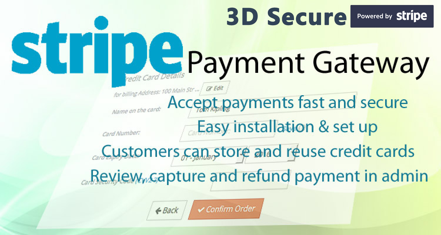 Advanced Stripe Payment Gateway 3D Secure