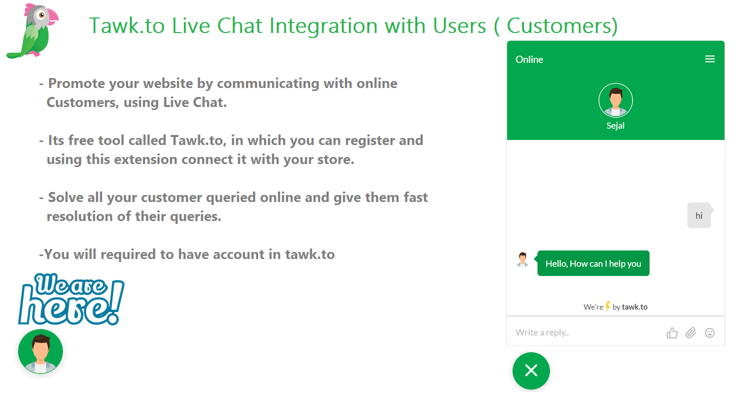 Tawk.to Live Chat Integration with Users