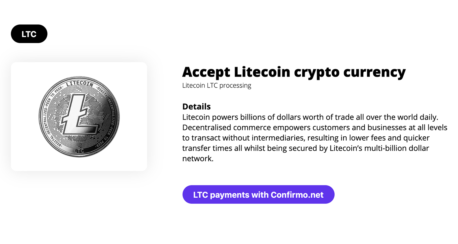 Accept Litecoins payments