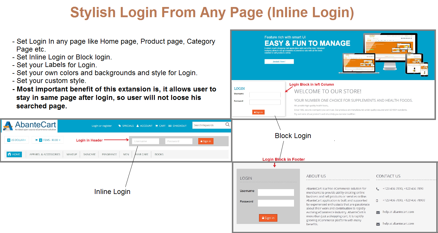 Stylish Login From Any Page Any where