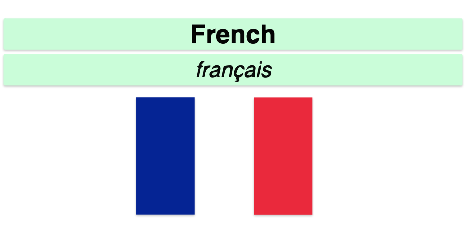 Français language pack